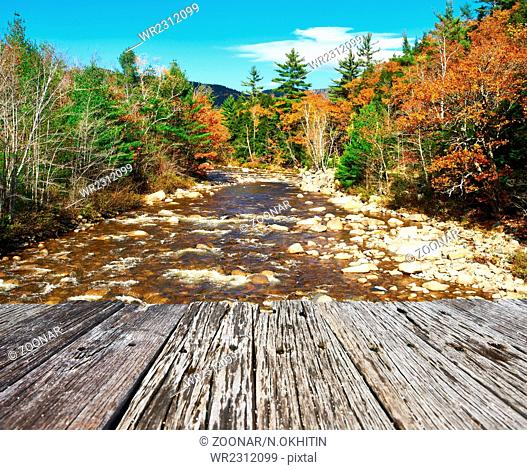 Swift River at autumn