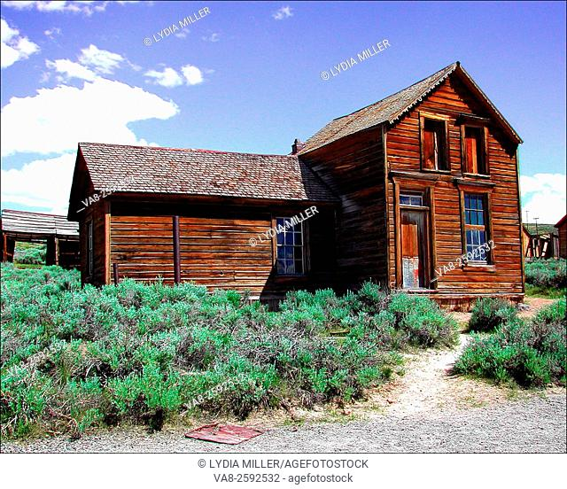 Old wooden house in Bodie, CA