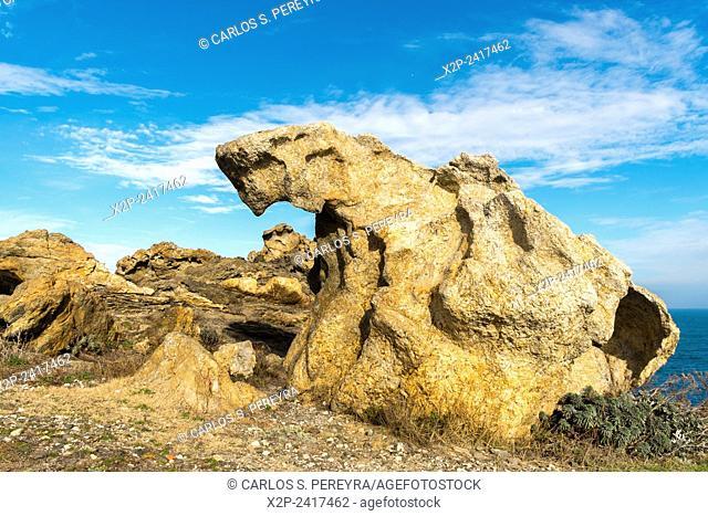 Landscape in Cap de Creus near of Cadaques, in Catalonia, Spain