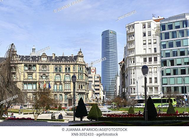 Plaza de Federico Moyua, Bilbao, Biscay, Basque Country, Euskadi, Euskal Herria, Spain, Europe