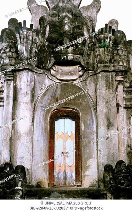 Indonesia. Bali. Dalung, Denpasar Region. Pura Desa Puseh. Gate To Inner Courtyard