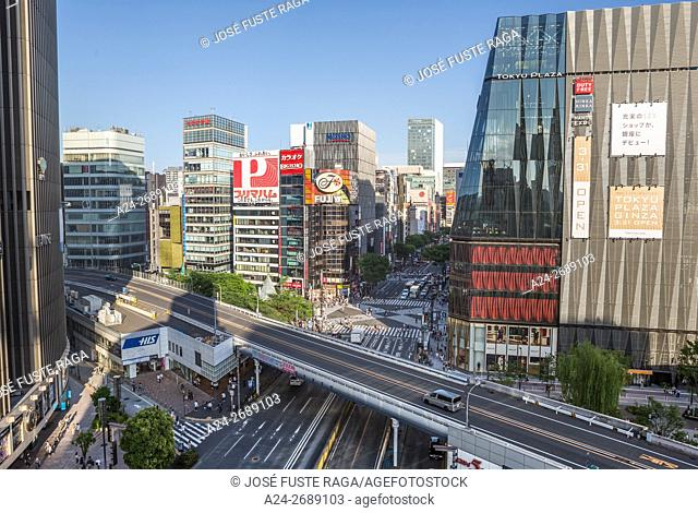 Japan, Tokyo City, Ginza District, Harumi Dori Avenue