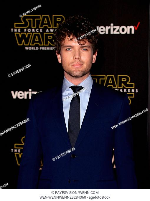 "Premiere Of Walt Disney Pictures And Lucasfilm's """"Star Wars: The Force Awakens"""" Featuring: Austin Swift Where: Hollywood, California"