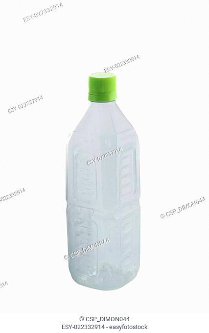Plastic bottle isolated on white