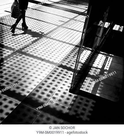 An Ecuadorian woman, a member of the higher social class, walks in a shopping center in Quito, Ecuador, 8 November 2013