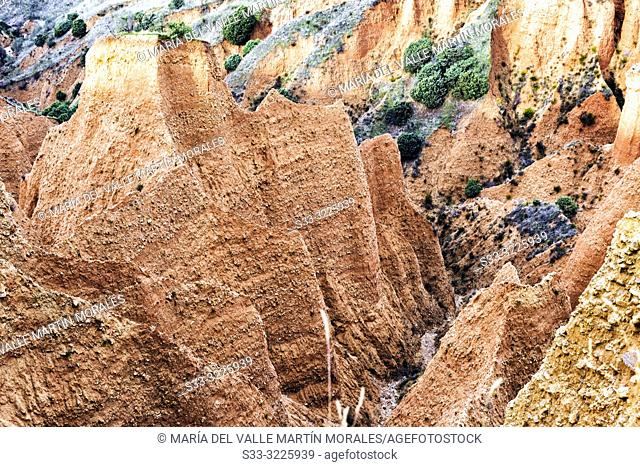 Alpedrete de la Sierra's gullies in the Sierra Norte. Madrid. Spain. Europe
