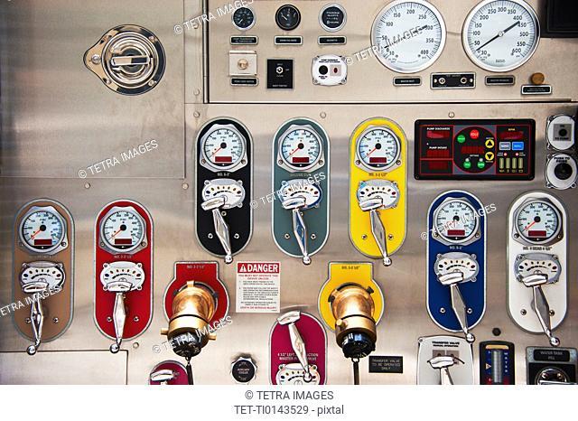 Fire engine gauges