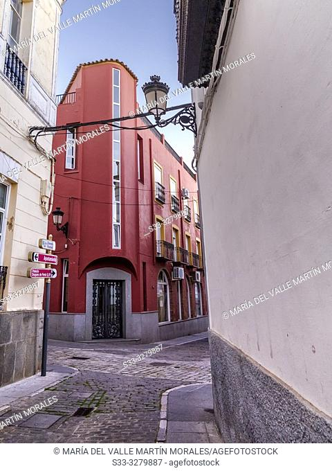 Alley in Zafra. Badajoz. Spain. Europe