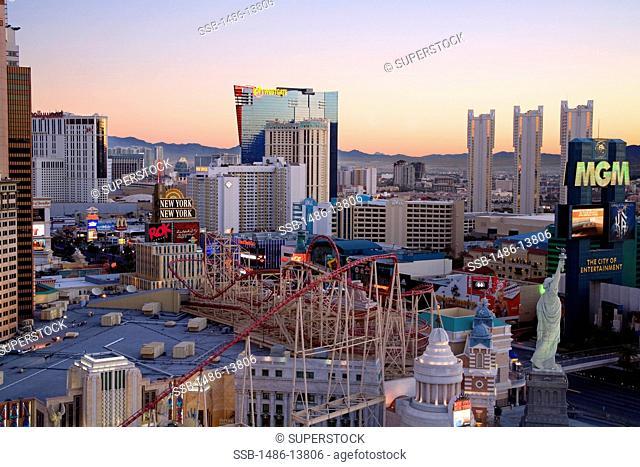 Skyscrapers in a city, Las Vegas, The Strip, Clark County, Nevada, USA