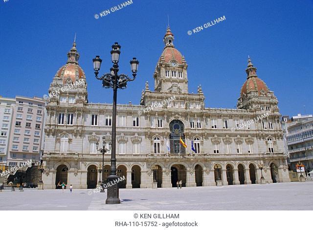 Town hall, La Coruna, Galicia, Spain, Europe