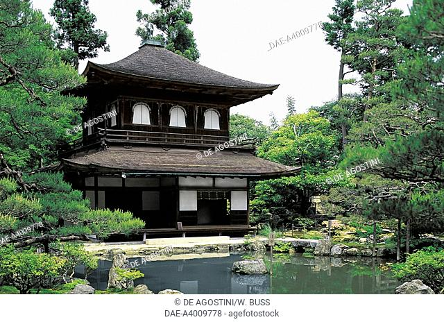 Temple of the Silver Pavilion of Ginkakuji Temple, Kyoto, Kansai, Japan, 15th century