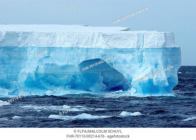 Blue tabular iceberg, Ross Sea, Southern Ocean, Antarctica