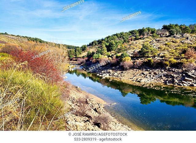 Acenia reservoir in Peguerinos. Avila. Castilla Leon. Spain. Europe