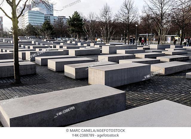 Europe, Germany, Berlin, The Memorial to the Murdered Jews of Europe German: Denkmal für die ermordeten Juden Europas, also known as the Holocaust Memorial...