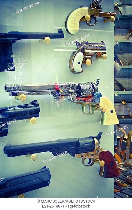 Variety of guns