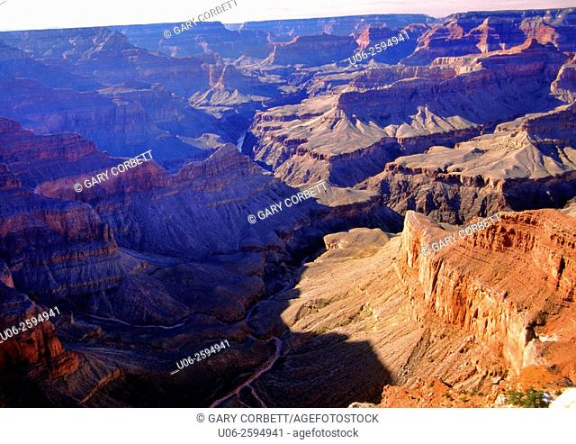 Grand Canyon National Park scenic view. Arizona, USA