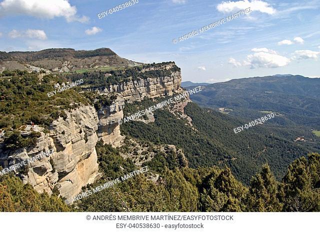 Mountain landscapes in Tavernet, Barcelona province, Spain