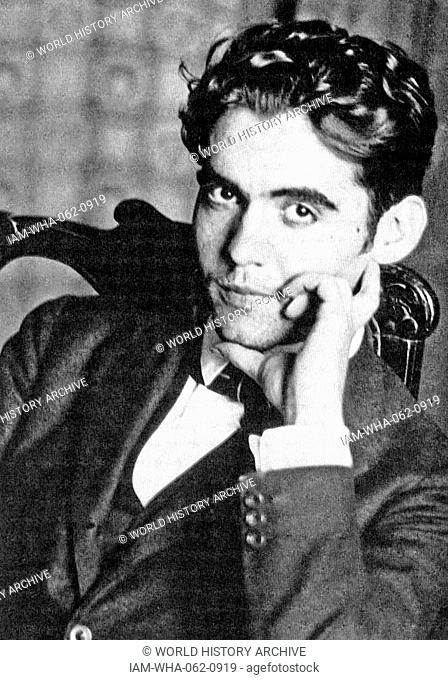 Federico García Lorca, 1898-1936. Lorca was a Spanish poet, playwright, and theatre director