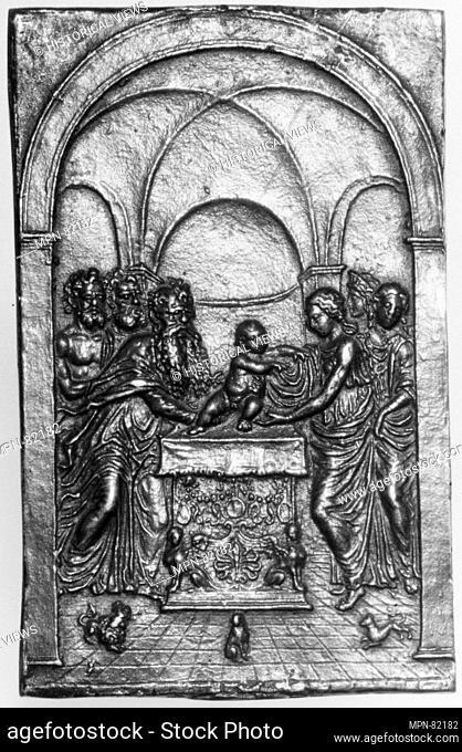 The Presentation of Christ in the Temple. Artist: Moderno (Galeazzo Mondella) (Italian, Verona 1467-1528 Verona); Date: late 15th-early 16th century; Culture:...