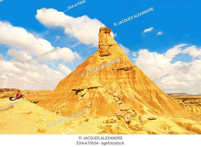 earth pyramid, Bardenas Reales, Navarre, Spain