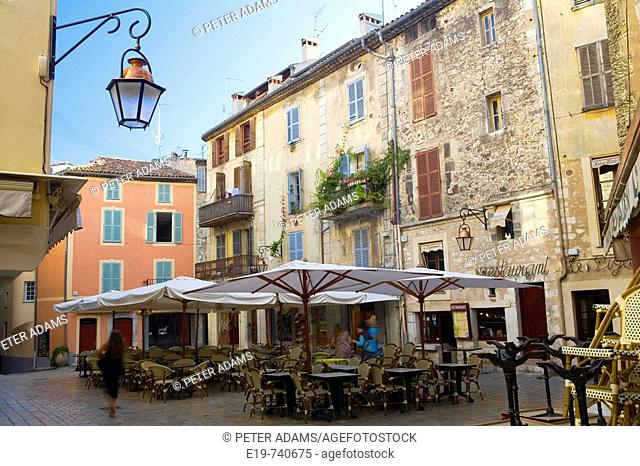 Square in Vence. Côte d'Azur, French Riviera, France