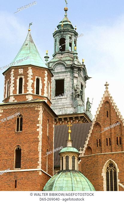 Wavel Cathedral domes. Wavel Hill. Krakow. Poland