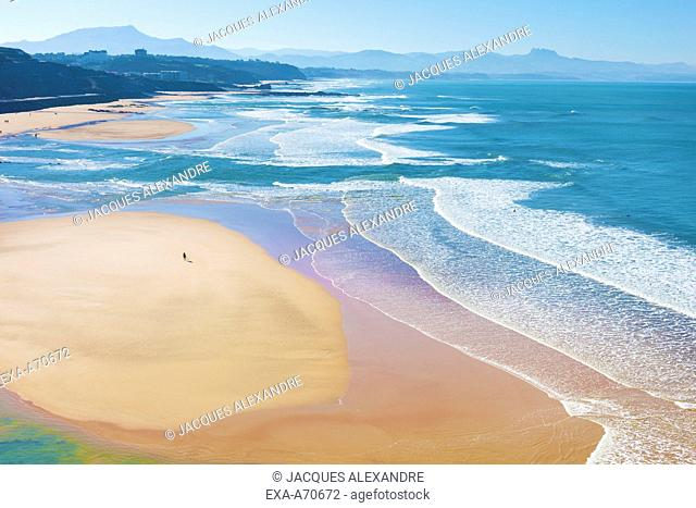 Biarritz, Beach Basque Coast, France