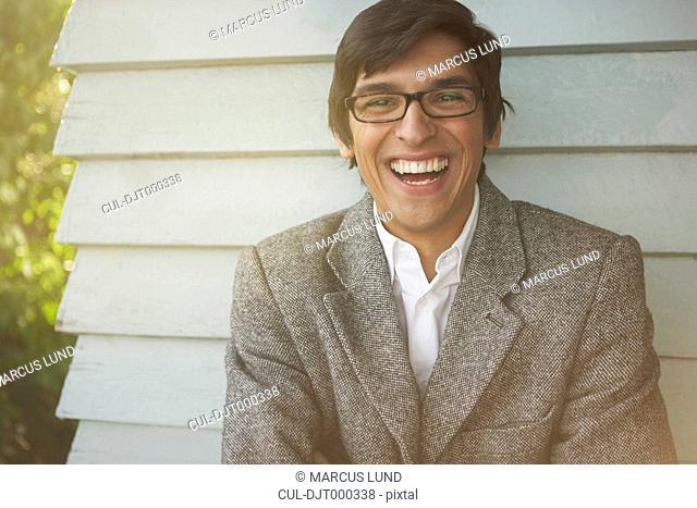 Young Man in tweed jacket