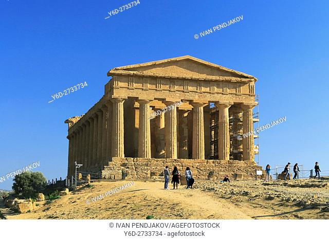 Temple of Concordia, Valley of the Temples, Sicily, Italy