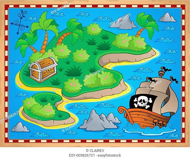 Theme with island and treasure 2