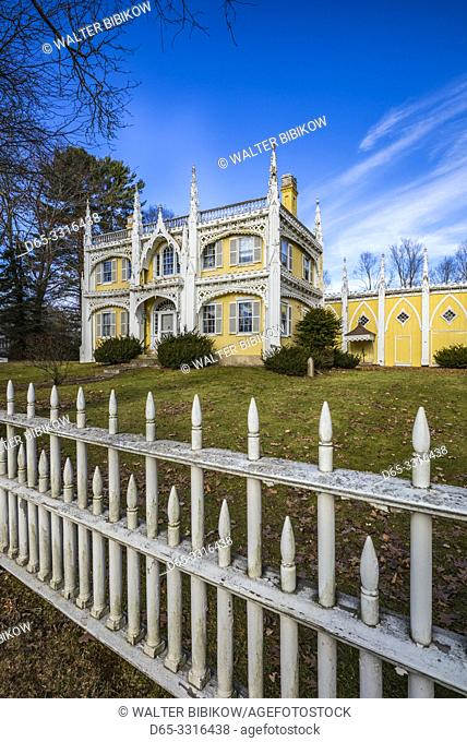 USA, Maine, Kennebunkport, the abandoned Wedding Cake House, the Most Photographed House in Maine