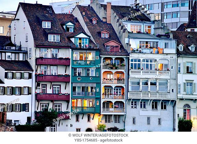 Houses at dawn, Basel, Switzerland