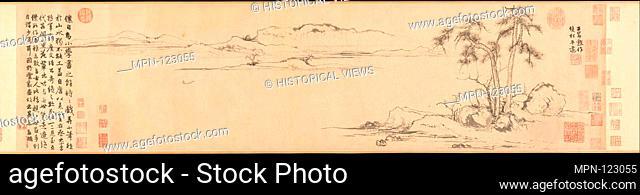 å…ƒ 趙孟頫 雙松平遠åœ- o·/Twin Pines, Level Distance. Artist: Zhao Mengfu (Chinese, 1254-1322); Period: Yuan dynasty (1271-1368); Date: ca