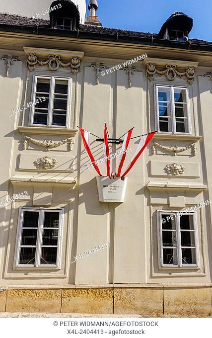 Vienna, Dreimaederlhaus, built in 1803, Austria
