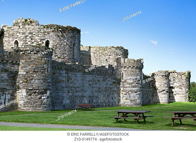 Beaumaris Castle in Beaumaris, Anglesey, North Wales