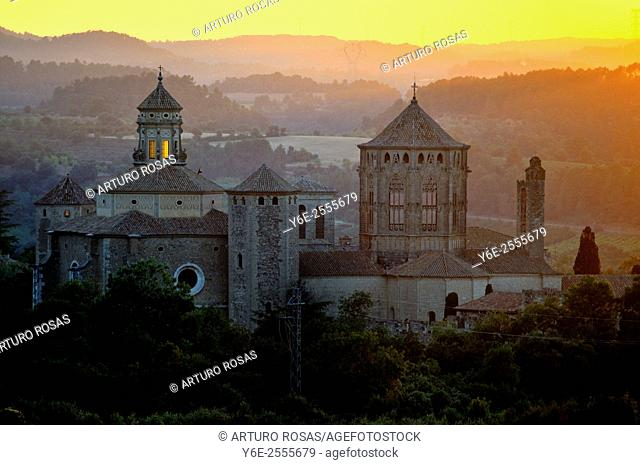 Sunset at Poblet Monastery