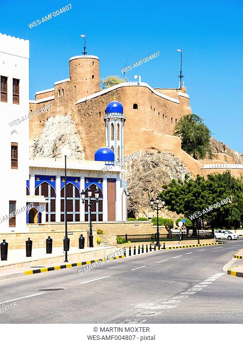 Oman, Muscat, Khor Mosque and Fort Al-Mirani