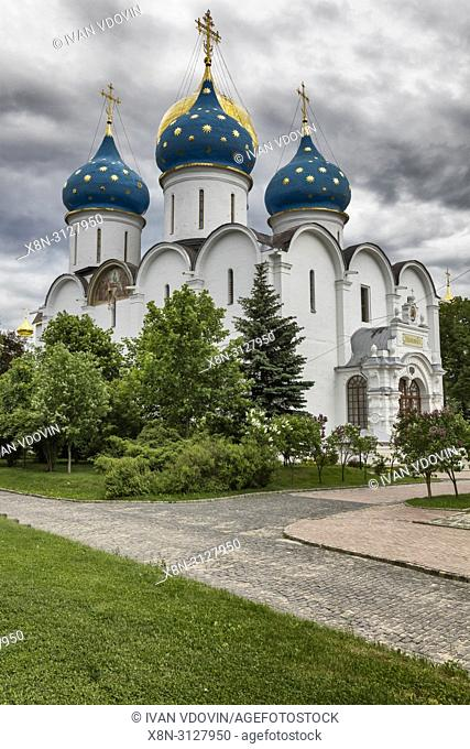 Assumption Cathedral (1585), Trinity Lavra of St. Sergius, Sergiyev Posad, Moscow region, Russia