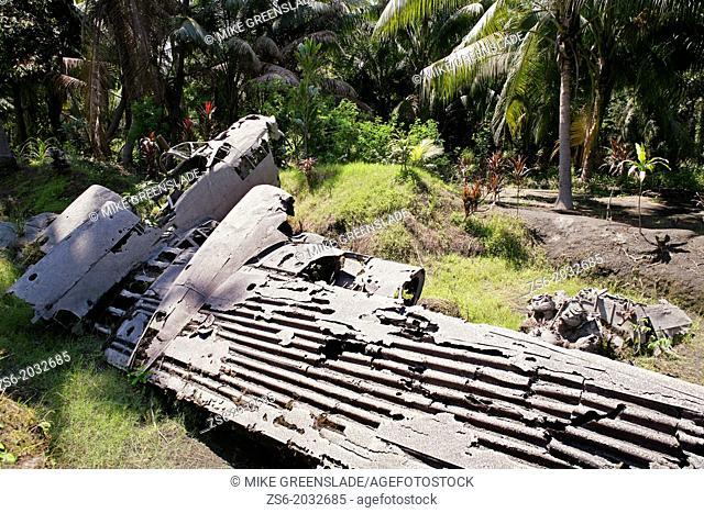 Crashed japanese bobmer, Matupit Island, East New Britain; Papua New Guinea