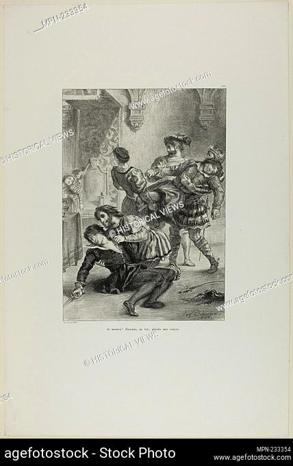 Hamlet's Death, plate 16 from Hamlet - 1843 - Eugène Delacroix French, 1798-1863 - Artist: Eugène Delacroix, Origin: France, Date: 1843
