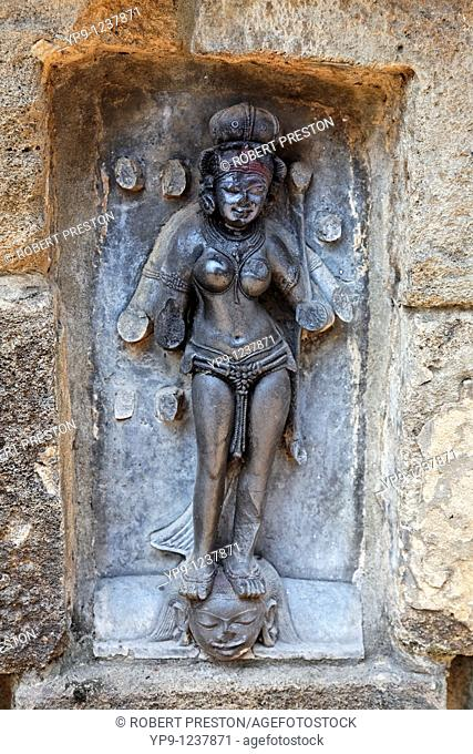 India - Orissa - Bhubaneswar - goddess sculpture at the Yogini temple