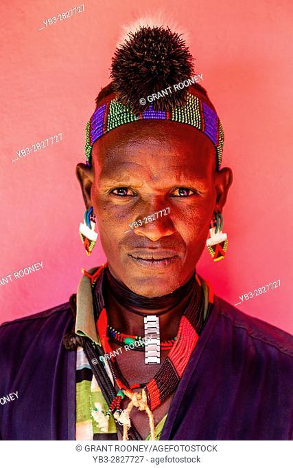 A Portrait Of A Young Hamer Tribesman At The Dimeka Saturday Market, Dimeka, Omo Valley, Ethiopia