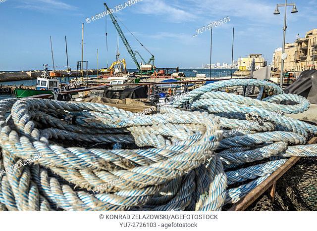 Port of Jaffa, oldest part of Tel Aviv city, Israel