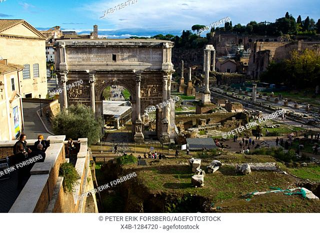 Views toward the Palatine from Campidoglio ancient Rome Italy Europe
