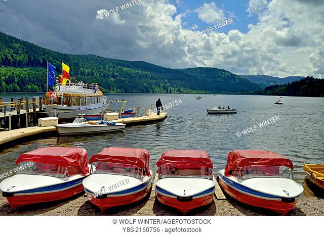 Boats at Lake Titi, Black Forest, Germany