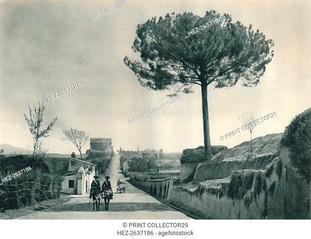 The Via Appia (Appian Way), Rome, Italy, 1927. Artist: Eugen Poppel