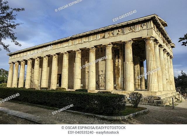 Temple of Herphaesus in the Ancient Agora in Athens, Greece