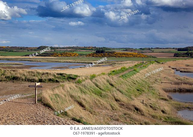 Cley Nature Reserve and Arnolds Marsh North Norfolk May in changeable weather