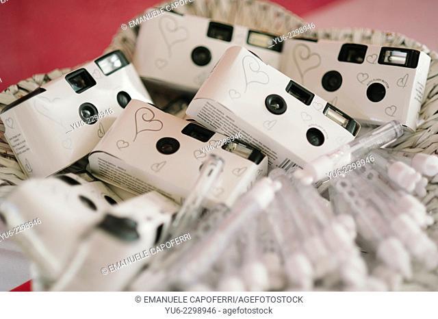 Disposable cameras for wedding
