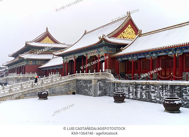 The Forbidden City in Winter  Beijing  China